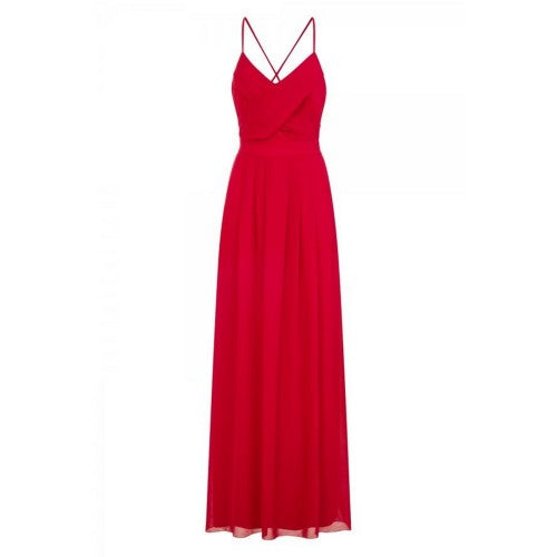 Front - Girls On Film Womens/Ladies Pleat Front Chiffon Maxi Dress