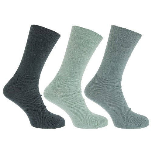 Front - Mens Wide Fit Diabetic Socks With Easytop Comfort Grip (Pack Of 3)