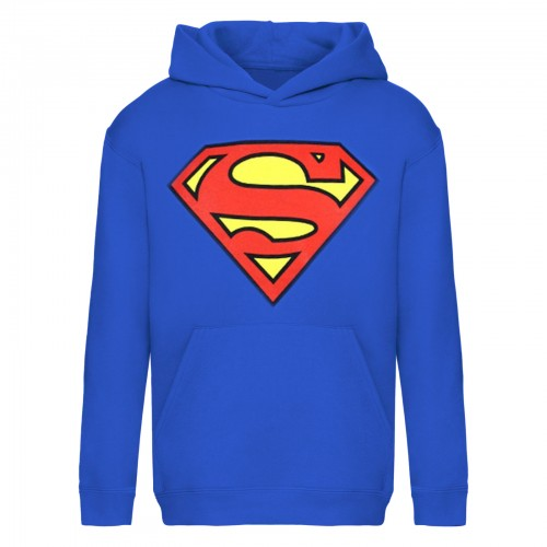 Front - Superman Mens Shield Logo Hoodie