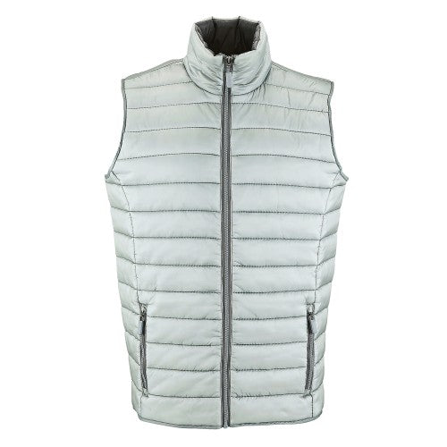 Front - SOLS Mens Wave Padded Water Repellent Bodywarmer/Gilet