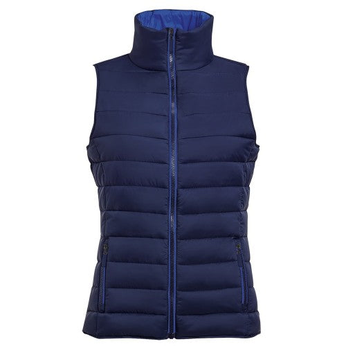 Front - SOLS Womens/Ladies Wave Padded Water Repellent Bodywarmer/Gilet