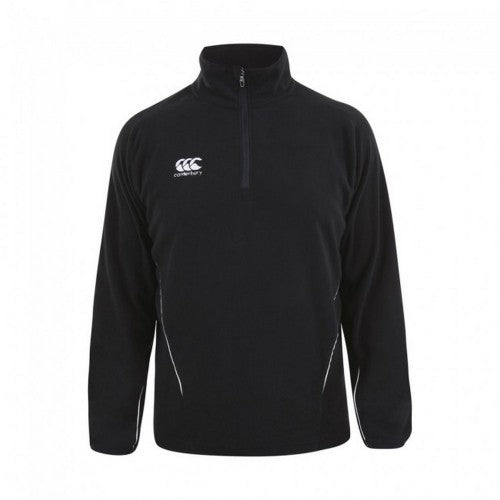 Front - Canterbury Mens Team Zip Neck Micro Fleece