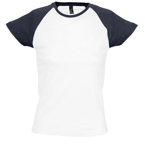 Front - SOLS Womens/Ladies Milky Contrast Short/Sleeve T-Shirt
