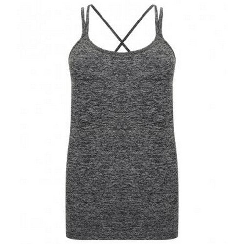 Front - Tombo Womens/Ladies Seamless Strappy Tank Top