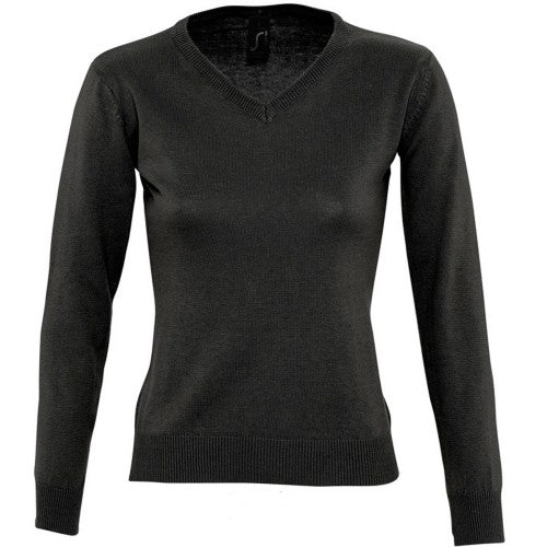 Front - SOLS Womens/Ladies Galaxy V Neck Sweater