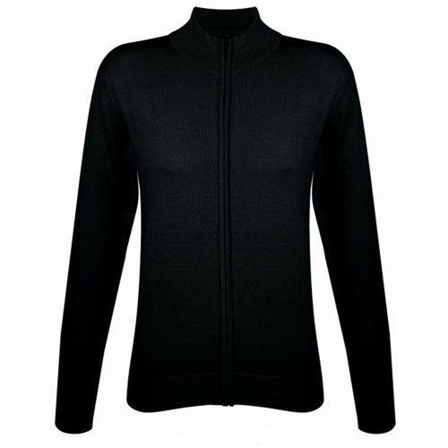 Front - SOLS Womens/Ladies Gordon Full Zip Cardigan