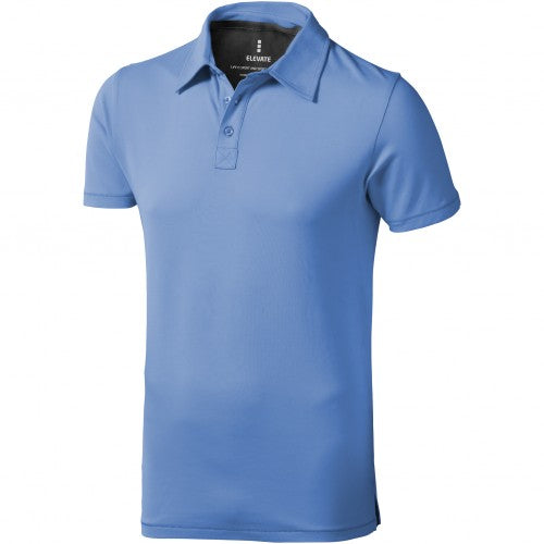 Front - Elevate Mens Markham Short Sleeve Polo