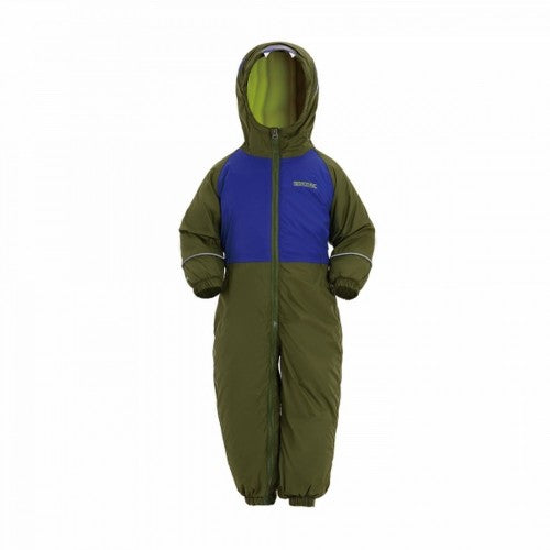 Front - Regatta Childrens/Kids Mudplay III Hooded Rainsuit
