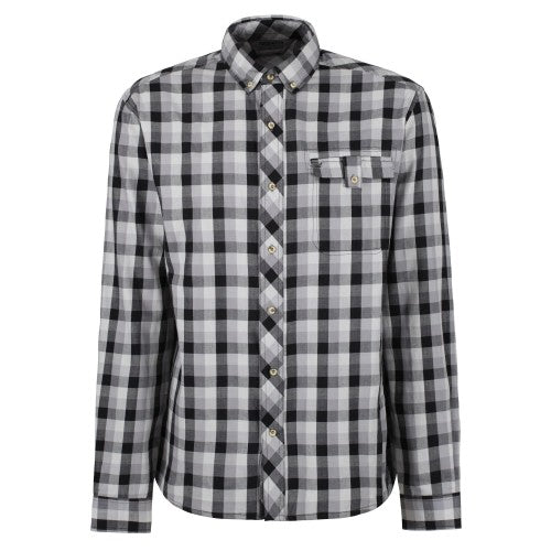 Front - Regatta Mens Lothar Long Sleeved Check Patterned Shirt