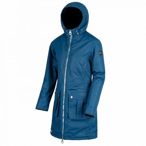 Front - Regatta Womens/Ladies Romina Full Length Hooded Jacket