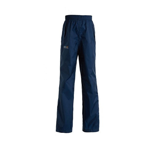 Front - Regatta Great Outdoors Kids Boys Adventure Tech Pack It Waterproof Overtrousers