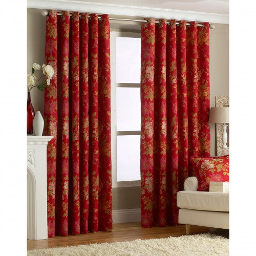 Front - Riva Home Berkshire Ringtop Curtains