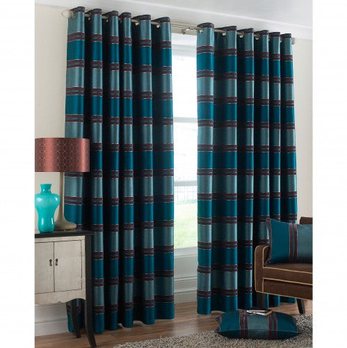Front - Riva Home Horizon Ringtop Curtains