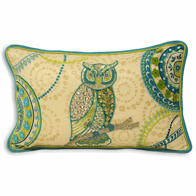 Front - Riva Home Indian Collection Leodis Owl Cushion Cover