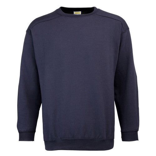 Front - RTY Workwear Mens Plain Crew Neck Sweatshirt