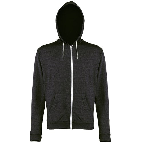 Front - Awdis Mens Heather Lightweight Hooded Sweatshirt / Hoodie / Zoodie