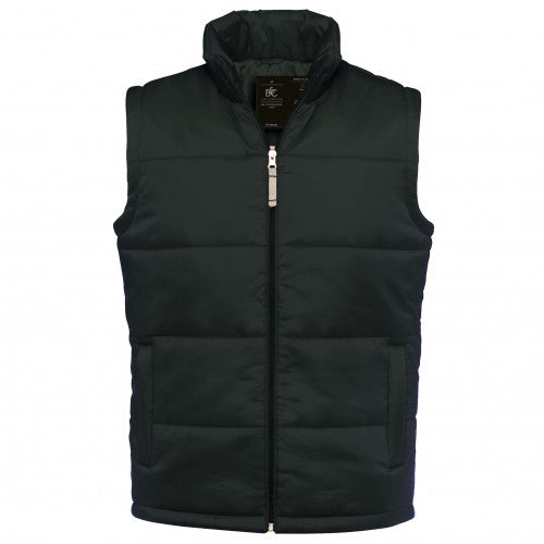 Front - B&C Mens Full Zip Waterproof Bodywarmer/Gilet