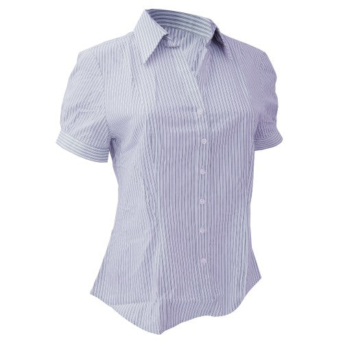 Front - Brook Taverner Ladies/Womens Pescara Short Sleeve Blouse
