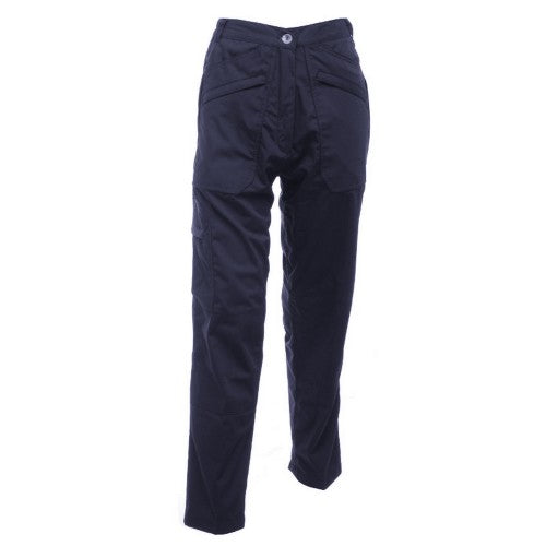 Front - Regatta Womens/Ladies Action II Water Repellent Work Trousers