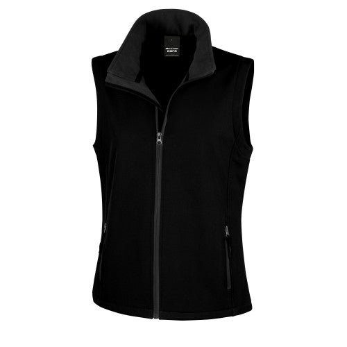 Front - Result Core Womens/Ladies Printable Softshell Bodywarmer