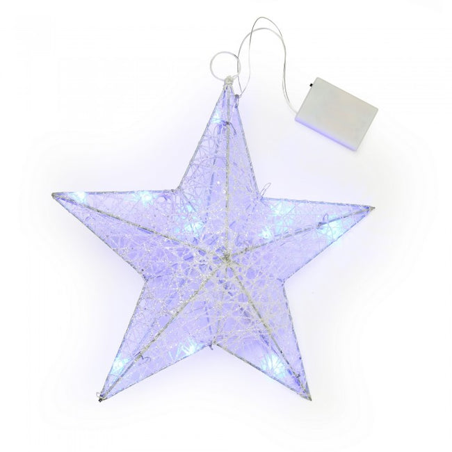 Front - Christmas Shop White Star Light Decoration