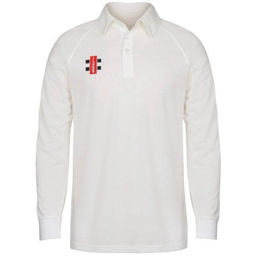 Front - Gray-Nicolls Big Boys Childrens/Kids Matrix Long Sleeve Cricket Shirt