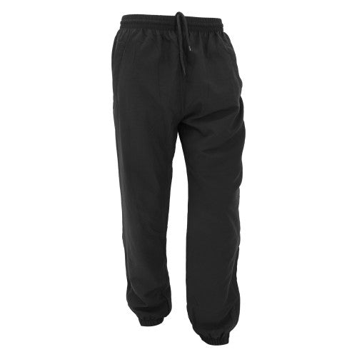 Front - Finden & Hales Unisex Cuffed Microfibre Track Pants / Tracksuit Bottoms