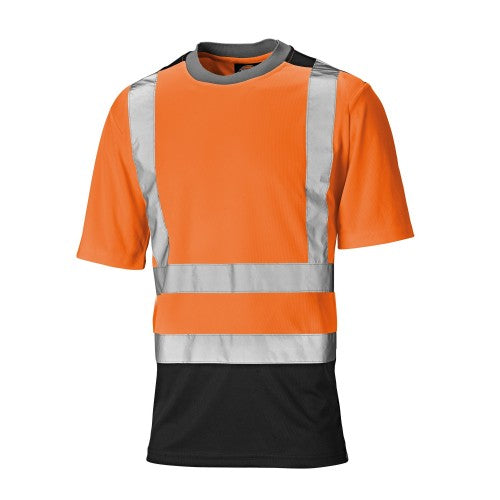 Front - Dickies Mens Short Sleeve Two Tone Hi Visibility T-Shirt