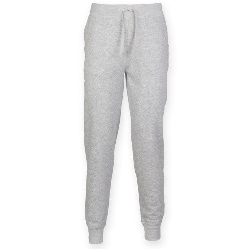 Front - Skinnifit Mens Slim Cuffed Jogging Bottoms/Trousers