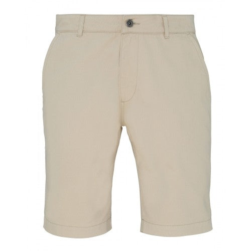 Front - Asquith & Fox Mens Casual Chino Shorts
