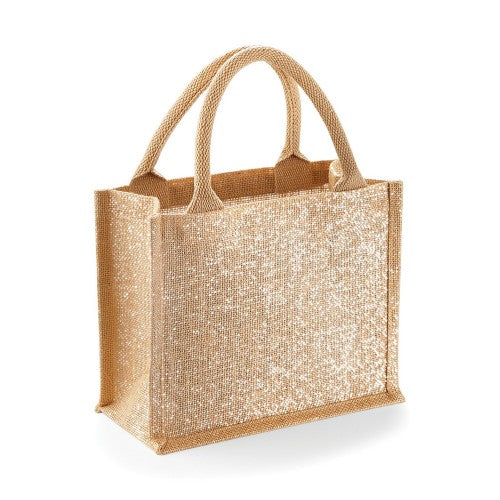 Front - Westford Mill Shimmer Jute Mini Gift Bag