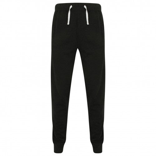 Front - Front Row Mens French Terry Jogging Bottoms