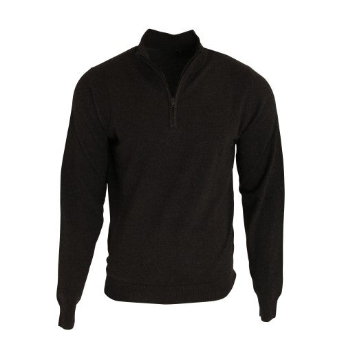 Front - Premier Mens 1/4 Zip Neck Knitted Sweater