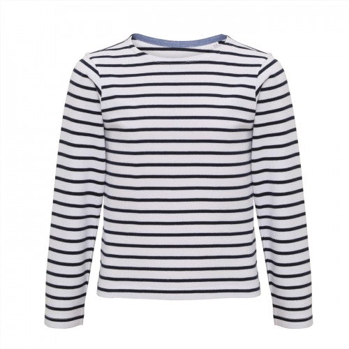 Front - Asquith & Fox Childrens/Kids Mariniere Coastal Long Sleeve T-Shirt