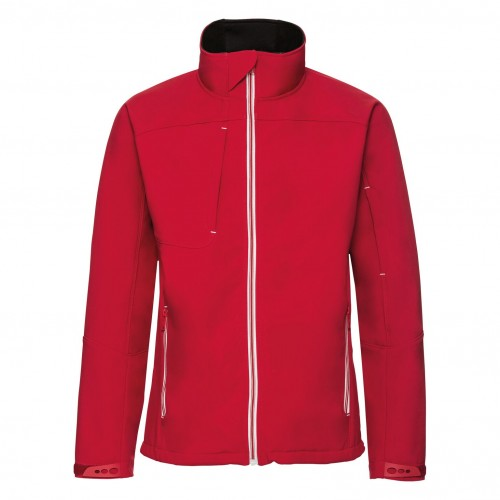 Front - Russell Mens Bionic Softshell Jacket