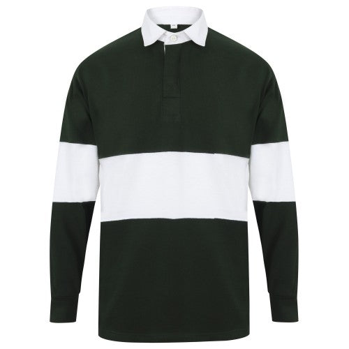 Front - Front Row Adults Unisex Panelled Tag Free Rugby Shirt