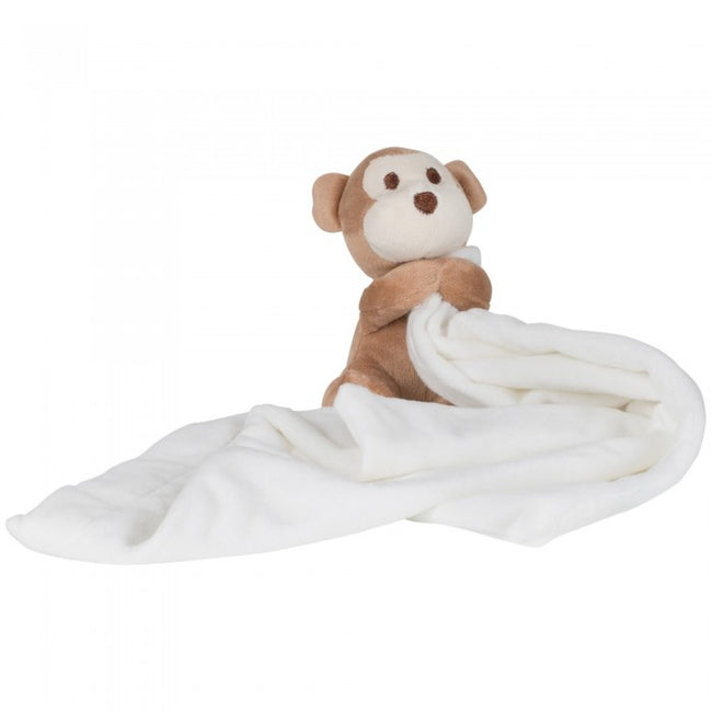 Front - Mumbles Baby Boys/Girls Plush Monkey Comforter Blanket (Pack of 2)