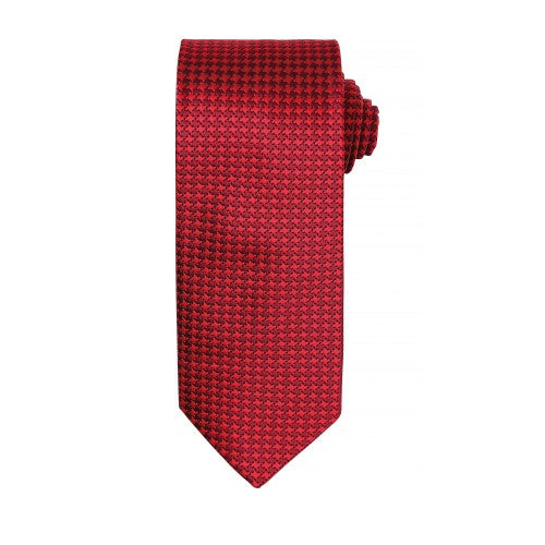 Front - Premier Mens Puppy Tooth Formal Work Tie (Pack of 2)