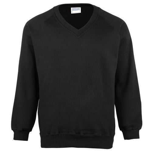Front - Maddins Mens Colorsure V-Neck Sweatshirt