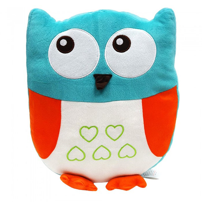 Front - Childrens/Kids Filled Owl Cushion