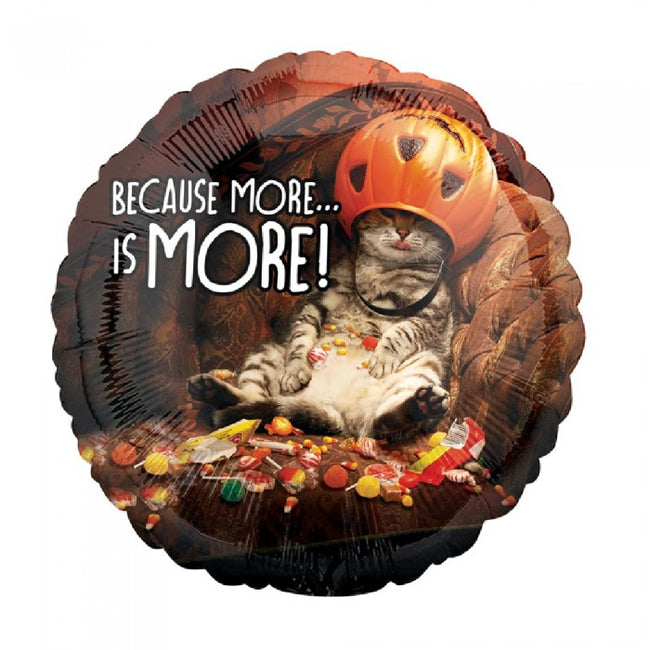 Front - Anagram 18 Inch Candy Cat Circle Foil Balloon