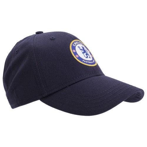 Front - Chelsea FC Unisex Official Football Crest Baseball Cap