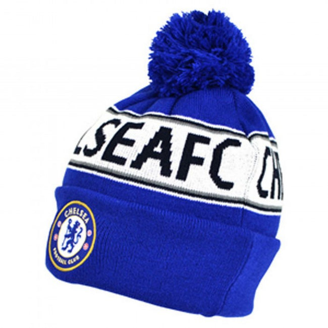 Front - Chelsea FC Official Cuffed Knitted Winter Beanie Hat