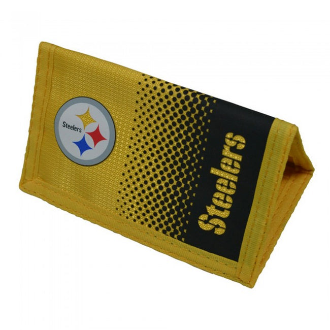 Front - NFL Pittsburgh Steelers Official Fade Football Crest Wallet