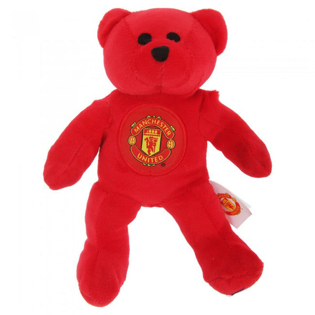 Front - Manchester United FC Official Mini Plush Football Club Teddy Bear