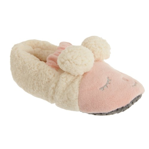 Front - Slumberzzz Childrens Girls Slip On Sheep Slippers