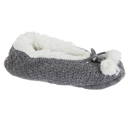 Front - Foxbury Womens/Ladies Cosy Grippy Slippers