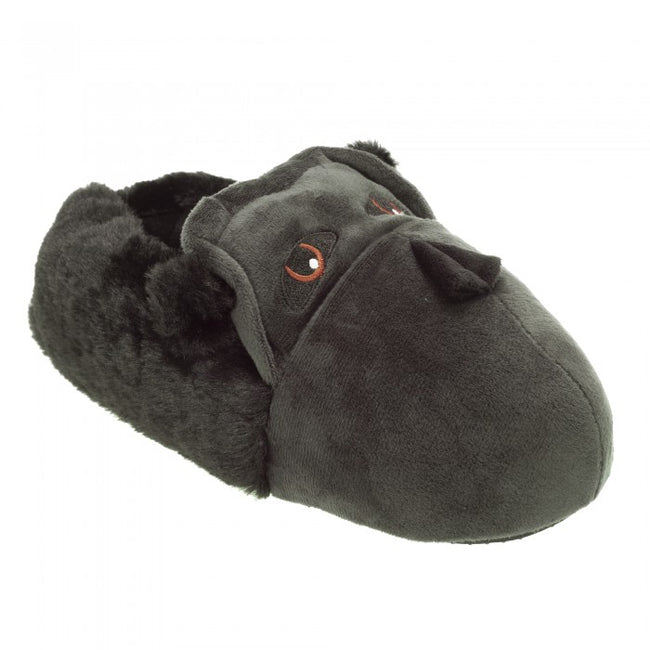 Front - Slumberzzz Mens Novelty Gorilla Slippers