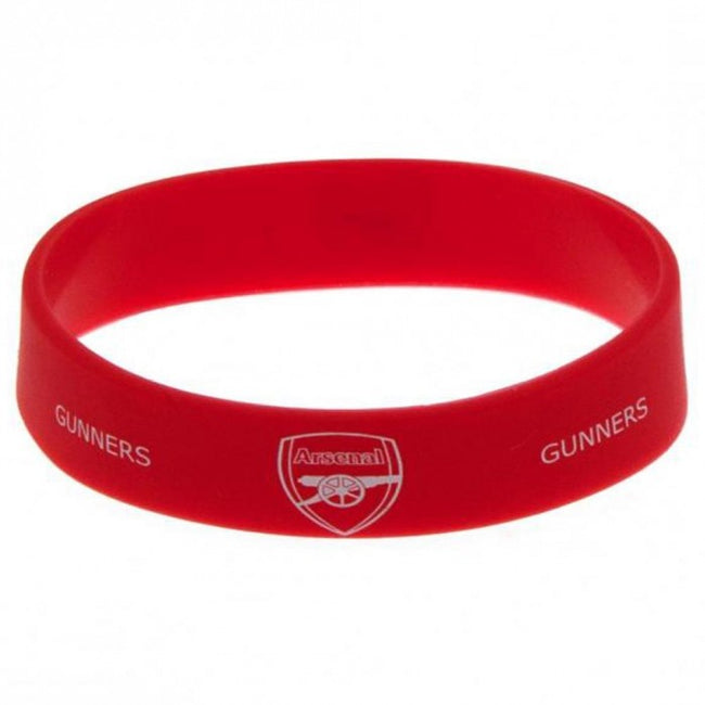 Front - Arsenal FC Official Silicone Wristband