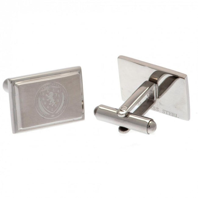 Front - Scotland FA Stainless Steel Cufflinks